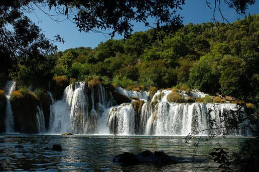 Skradinski Buk Wasserfall im Krka Nationalpark
