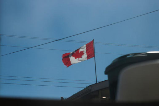 Canadian flag, travel Canada, Alberta