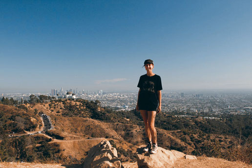 Hollywood Hills, Blick auf Los Angeles und Griffith Observatorium, Lonelyroadlover