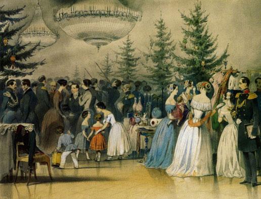 Сцена из жизни семьи Николая I. А. Чернышов. 1840–1850 гг.