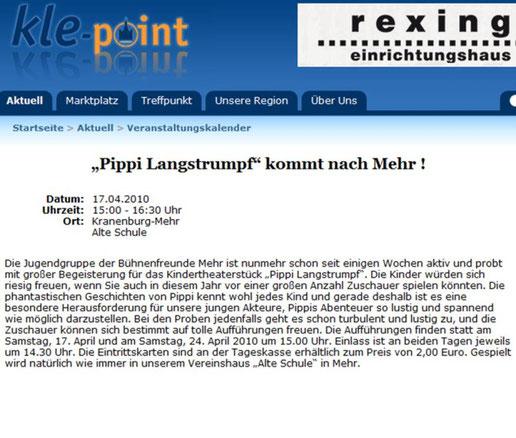 Anzeige KLE-Point; eingestellt am 14.04.2010