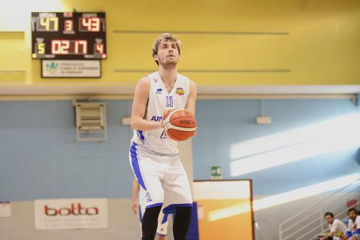 Alessandro Tomatis. Per lui 20 punti, massimo in carriera con l'Acaja. Guido Fissolo ph.
