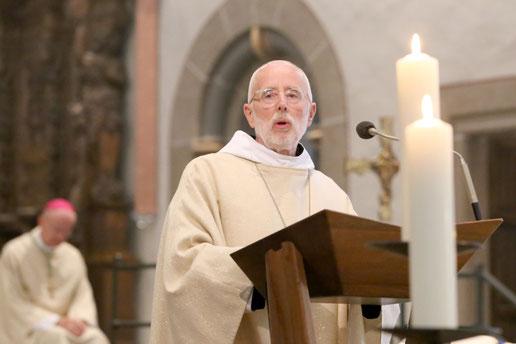 Altabt Laurentius Schlieker hielt die Festpredigt. | Fotos: Nicole Cronauge
