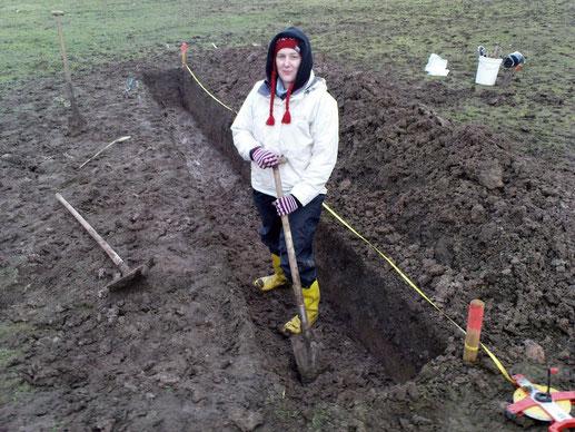 Lang lang ist es her: Meine erste Grabung im Dezember 2009.