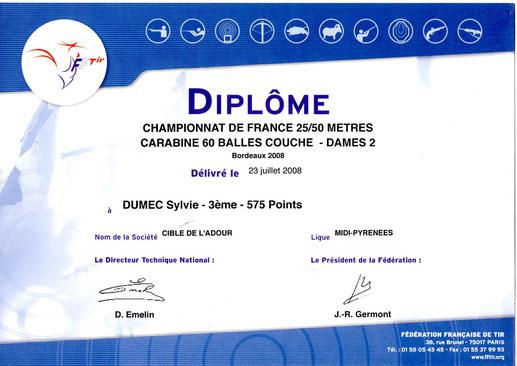 3ème au championnat de France 50mètres à Bordeaux