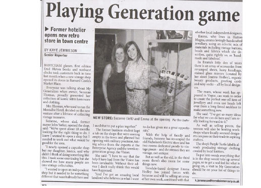 My Generation and Eco Chic Boutique Teesdale Mercury 26th  May 2010