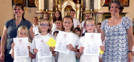Ehrungen der Fränkischen Chorjugend - 5 Jahre Aktives Singen -  2015