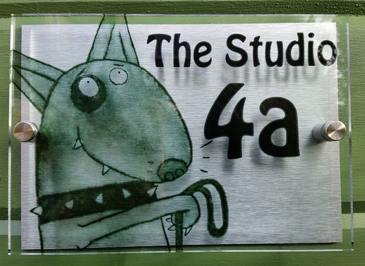 A new sign for the new printmaking art studio