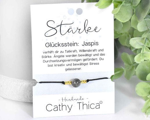 Glücksarmband mit Jaspis Edelstein  9,90 €