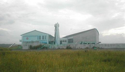 津波跡地に残る請戸小学校