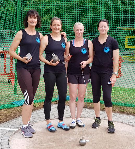 Das Silbermedaillenteam von RKS Phoenix Mutterstadt! V. l. n. r.: Kristina Telge - Bettina Schardt - Natascha Wolf - Wilma Jansen!