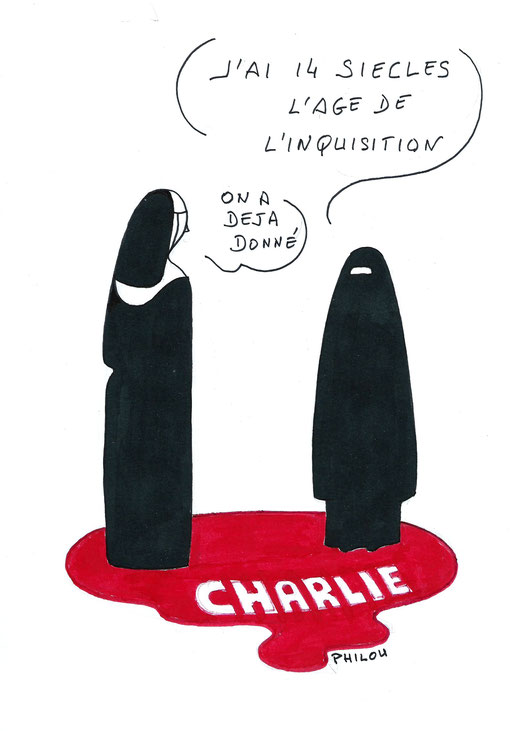 TRANSMIS à CHARLIE HEBDO LE LENDEMAIN DU DRAME.