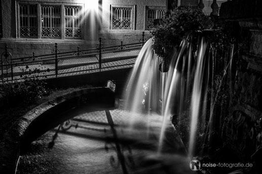 Gotha - Wasserkunst am Abend