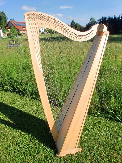 Tremer-Harfe Modell Jupiter 36 Saiten, Buche Harfenbau