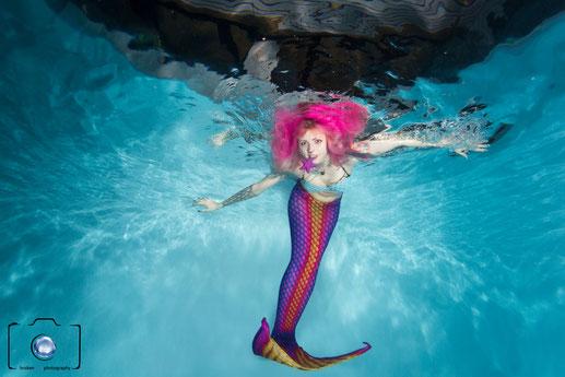 Bild: Meerjungfrau beim Mermaiding in Berlin