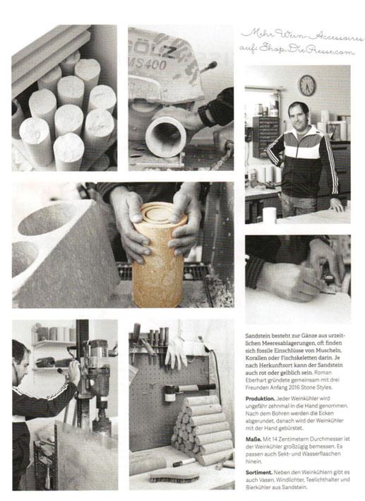 Foto aus unserer Werkstatt mit Text. Fotografiert und getextet von DIE PRESSE