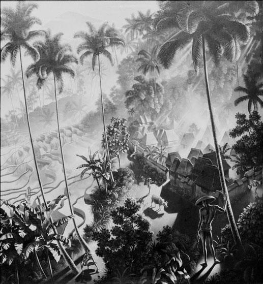 """Bild """"Iseh im Morgenlicht"""" von Walter Spies"""