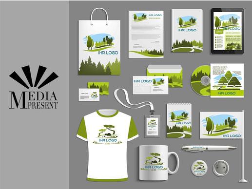 Flyer, T-Shirt, Visitenkarte, Kalender, Kugelschreiber
