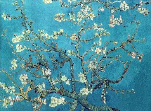 Цветущие ветки миндаля - Винсент Ван Гог. Самые известные картины Ван Гога