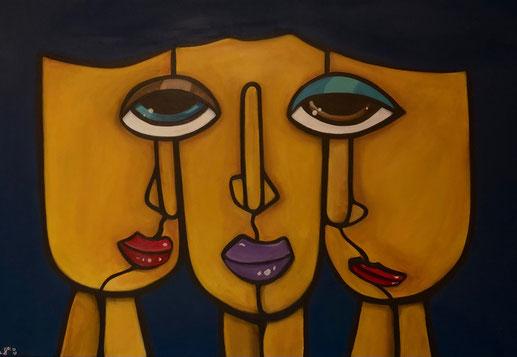 THREE IN ONE 50 x 70 Acryl SOLD / VERKAUFT
