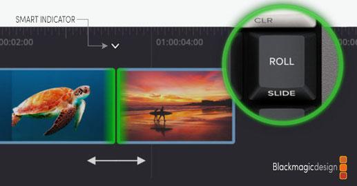 DaVinci Resolve, Speed Editor, roll, edición de video, cortando, premier pro