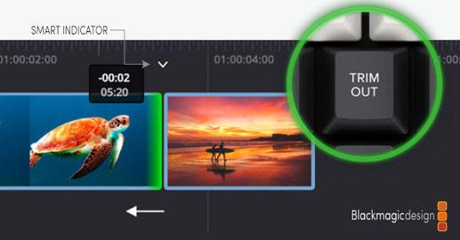 DaVinci Resolve, Speed Editor, trimming, edición de video, cortando, final cut