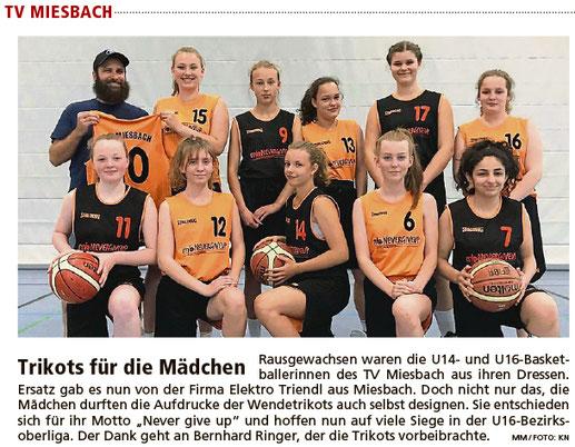 Bericht im Miesbacher Merkur am 4. Juli 2018 - Zum Vergrößern klicken