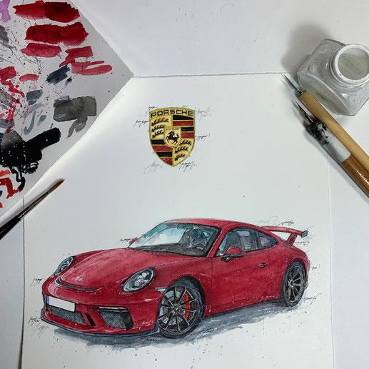 Porsche GT3, Leslie G. Hunt