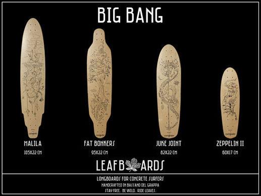 Cruiser da longboard Italia collezione Big Bang