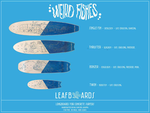 Boards longboard italia collezione Weird Fishes