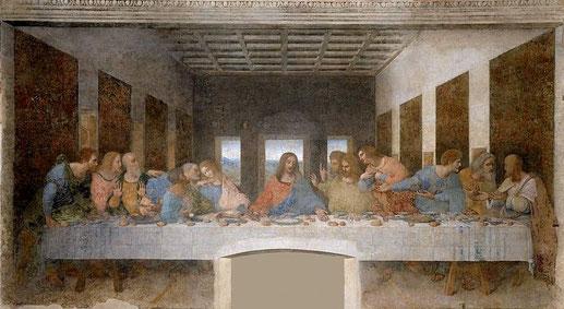 La Cène (Léonard de Vinci - v. 1494) Couvent de Santa Maria delle Grazzie, Milan