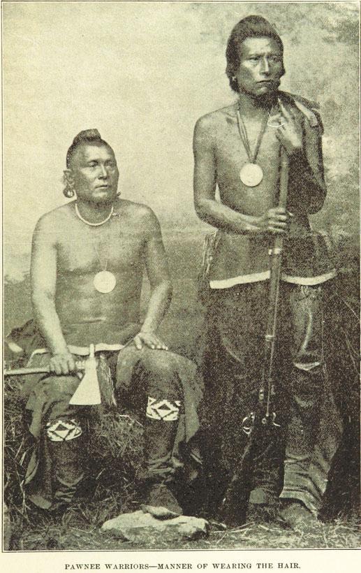 Symbolbild zwei porträtierter Indianer - Pawnee Krieger 19. Jahrhundert