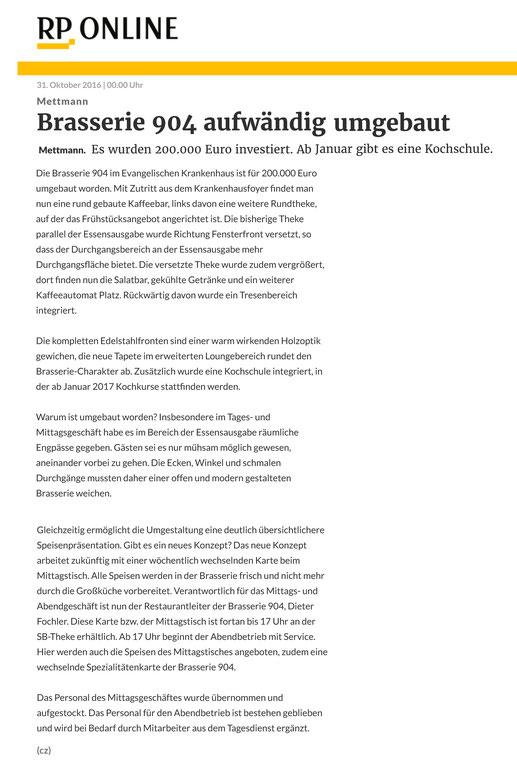 Rheinische Post vom 31.10.2016