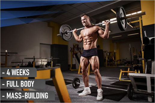 4 week workout plan mass building