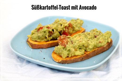 Süßkartoffel-Toast mit Avocado - Paleo - Glutenfrei - Superfood