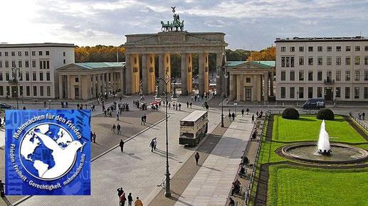 Mahnwache für Frieden: DEFENDER 2020 - Nicht mit uns! am 06.04.2020 - 18:00 Uhr Pariser Platz
