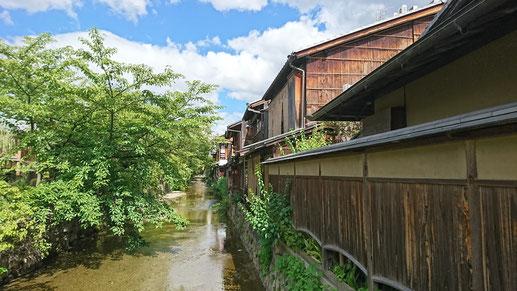 四条大橋を渡って白川へ 。THE京都