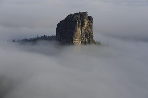 Falkenstein im Nebelmeer, Schrammsteine