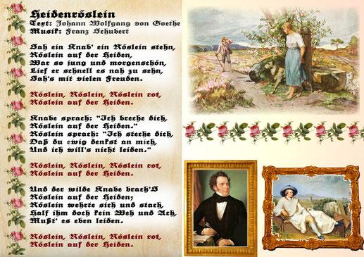 Heidenröslein - Text: Johann Wolfgang von Goethe, Musik: Franz Schubert