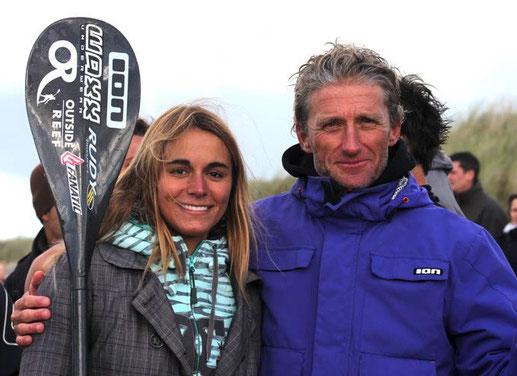 Olivia Piana et Didier Leneil Champions de France de Beach Race ;-)