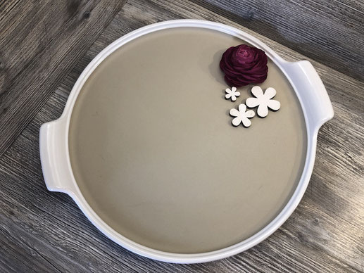 Stoneware von Pampered Chef rund 38 cm Ø
