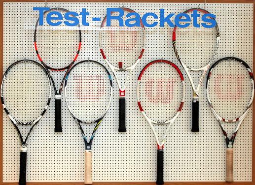 Tennsishop mit Tennisausrüstung