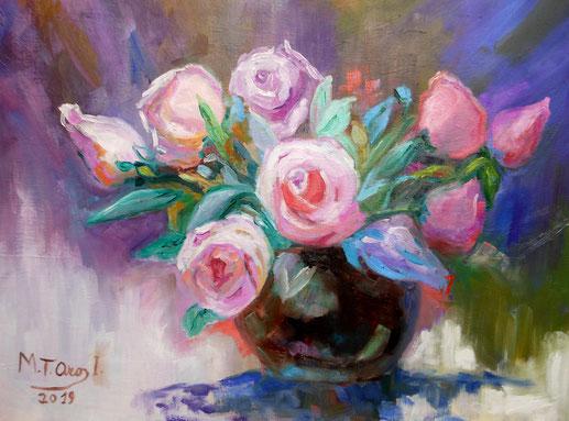 Flores . Óleo . 65x54