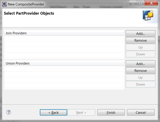 Select PartProvider for CompositeProvider