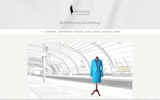 Text und Konzeption für die Webseite petra-scholz.de