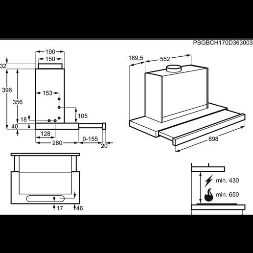aeg dbk 6980 sg dunstabzugshaube k ln hgs elektro. Black Bedroom Furniture Sets. Home Design Ideas