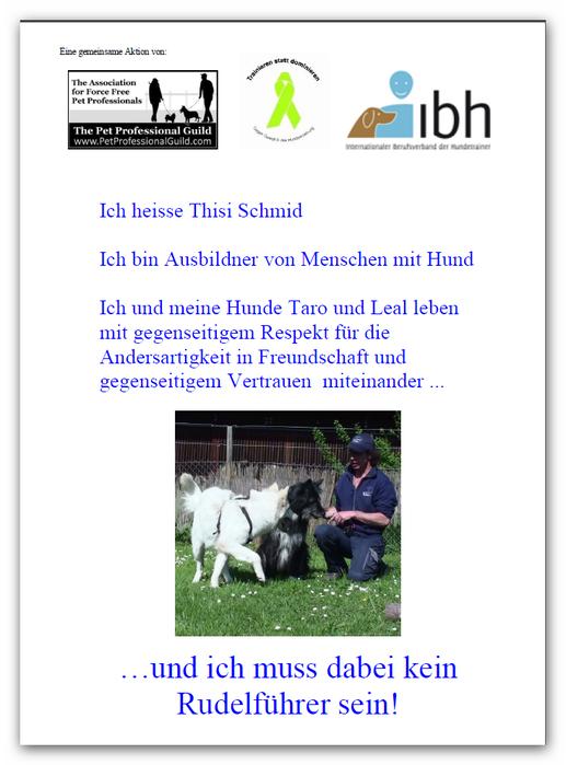 Dominanz in der Mensch-Hund-Beziehung / Pack Leader / Rudelführer
