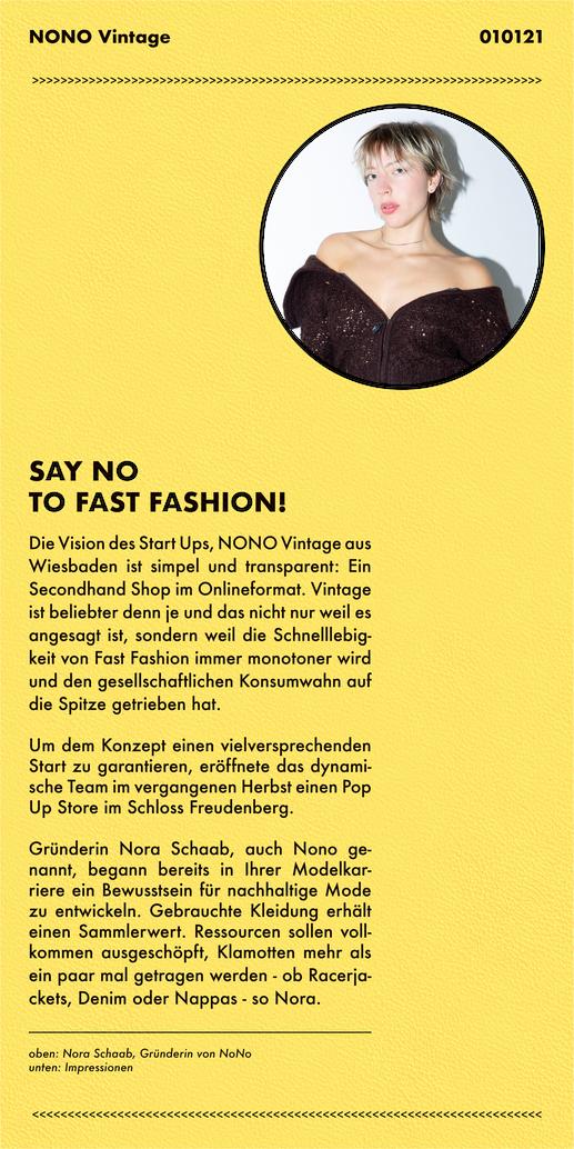 Nono Vintage Onlineshop - Startup Wiesbaden - Nora Schaab