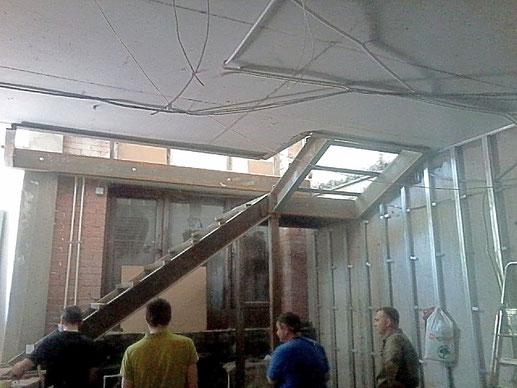проем в перекрытии, демонтаж бетонного перекрытия