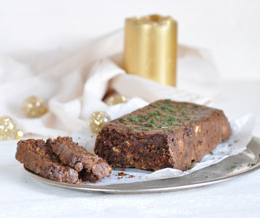 Hüttenkäse-Braten, vegetarische Weihnachten, Thermomix
